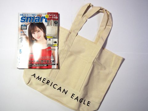 smart(スマート)2018年10月号 《特別付録》  AMERICAN EAGLE OUTFITTERS(アメリカンイーグル アウトフィッターズ)大容量!傑作トートバッグ
