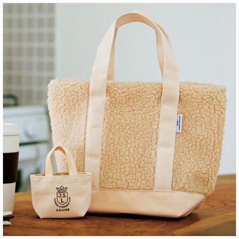 【次号予告】リンネル 1月号 付録 journal standard luxe(ジャーナルスタンダード ラックス)あったかボアの親子トートバッグ