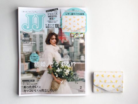 【購入レビュー】JJ(ジェイジェイ)2019年2月号《特別付録》バナナ・リパブリックのレザー調マイクロ財布