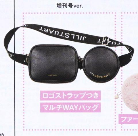 【次号予告】sweet(スウィート)2020年2月号増刊《特別付録》JILLSTUART(ジルスチュアート)ロゴストラップつきマルチWAYバッグ
