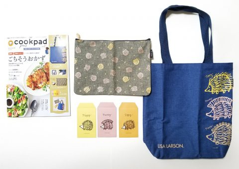 cookpad plus(クックパッドプラス)2020年冬号《特別付録》リサ・ラーソン ハリネズミ3兄弟豪華3点セット【購入開封レビュー】