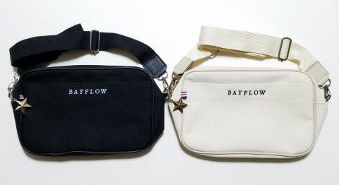 【開封レビュー】BAYFLOW LOGO SHOULDER BAG BOOK BLACK・ IVORY