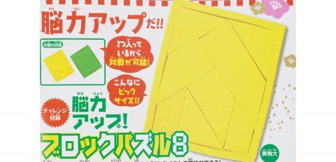 【次号予告】小学8年生 2021年2.3月号《特別付録》能力アップ!ブロックパズル8
