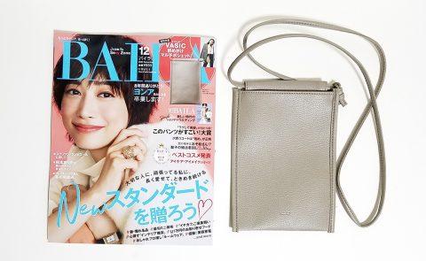 【開封レビュー】BAILA(バイラ)2020年12月号《特別付録》VASIC(ヴァジック)斜めがけマルチポシェット