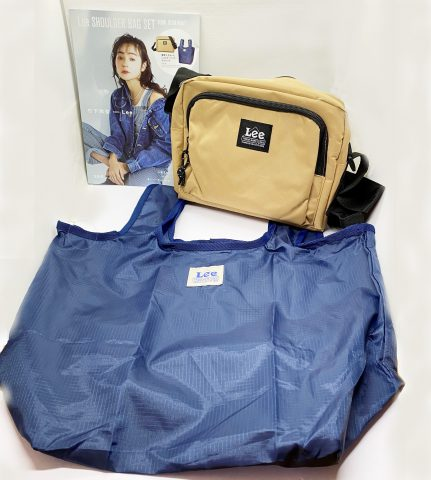 【フラゲレビュー】Lee(リー) SHOULDER BAG SET BOOK(BLACK/BLACK・BLUE/NAVY・KHAKI/BLACK・PINK/BLACK・BLACK/NAVY・BEIGE/NAVY)