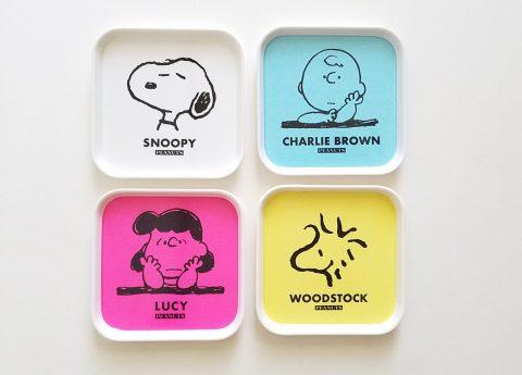 【フラゲレビュー】mini(ミニ)2021年6月号《特別付録》PEANUTS(ピーナッツ)オリジナル 食品も置けるメラミン素材! スヌーピーと仲間たち♡ トレー4色セット